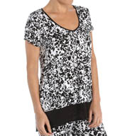 Anne Klein Night And Day Short Sleeve Top 8410440