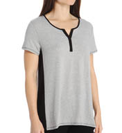 Anne Klein Smart Chic Dri Release Short Sleeve Henley 8510428