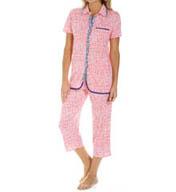 Anne Klein Liberty Short Sleeve Cropped PJ 8710381