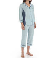 Anne Klein Chambray 3/4 Sleeve Cropped PJ Set 8710405