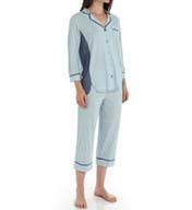 Anne Klein Chambray 3/4 Sleeve Cropped PJ Set 8710405