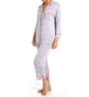 Anne Klein Fall Paradise 3/4 Sleeve Cropped PJ Set 8810456