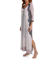 Anne Klein Taupe Fiction 3/4 Sleeve Long Caftan 8910457