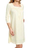 Aria Falling Leaves Three-Quarter Sleeve Nightgown 8014809