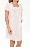 Aria Vintage Romance Short Sleeve Short Nightgown 8014823