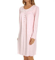 Aria Lullabies Long Sleeve Short Nightgown 8014918