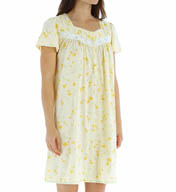"Aria Soft Jersey 37"" Short Sleeve Short Nightgown 8014932"