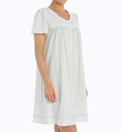 Aria Lavender in Bloom Short Sleeve Short Nightgown 8014956