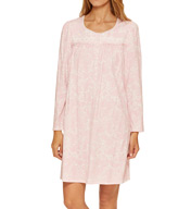 Aria Holiday Hues Long Sleeve Short Nightgown 8014997