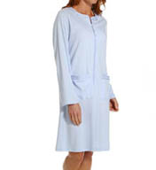 Aria Solid Brushed Interlock Longsleeve Short Zip Robe 8114875