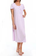 Aria Dreaming In Pastels Solid Short Sleeve Long Gown 8214831