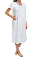 Aria The Ocean Breeze Short Sleeve Long Nightgown 8214837