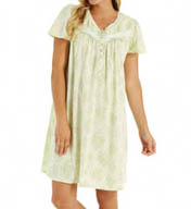 Aria Printed Soft Jersey Short Cap Sleeve Nightgown 8314874