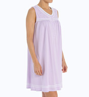 Aria Lavender in Bloom Sleeveless Short Nightgown 8314956