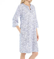 Aria Day Into Night 3/4 Sleeve Short Zip Caftan 8714961