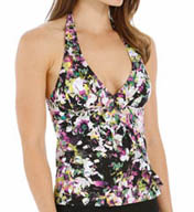 Assets by Sara Blakely Glamour Ruffle Tankini Swim Top 1708