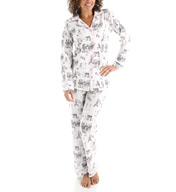 BedHead Pajamas Cafe Du Paris Long Sleeve Classic PJ Set 2522