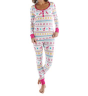 BedHead Pajamas Partridge Fair Isle Long Sleeve Henley PJ Set 2621
