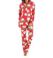 BedHead Pajamas Rouge Hydrangea Long Sleeve Classic PJ Set 2623