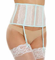 Betsey Johnson Intimates Blue Bridal Waist Cincher with Garters 726707