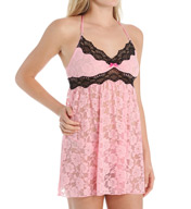 Betsey Johnson Intimates Floral Lace Babydoll and Thong Set 732993