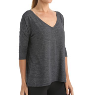 Beyond Yoga Cloud Heather High-Low Tee CH7289