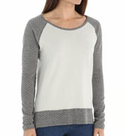 Beyond Yoga Quilted Double Knit Contrast Raglan Sweatshirt QD7219