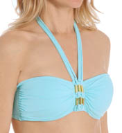 Bleu by Rod Beattie Solid Bandeau Swim Top 15109
