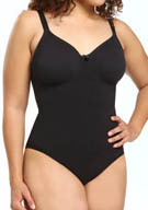 Body Wrap Pinup Plus Size Bodysuit with Underwire AE45001
