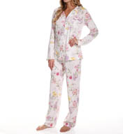 Carole Hochman Morning Glory Long Pajama Set 180804