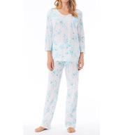 Carole Hochman Blooming Roses Pajama Set 180921