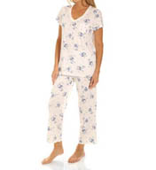 Carole Hochman Flowering Nights Capri Pajama Set 181808