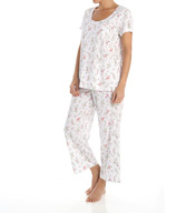 Carole Hochman Blossoms Capri Pajama Set 1891000