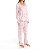 Carole Hochman Bouquet Long Pant Pajama Set 1891020