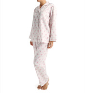 Carole Hochman Brush Back Satin Long PJ Set 1891053