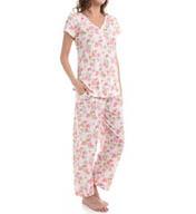 Carole Hochman Vintage Ditsy Capri Pajama Set 189752