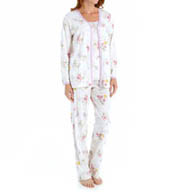 Carole Hochman Morning Glory 3 Piece Pajama Set 189815