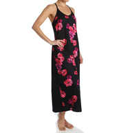 Carole Hochman Midnight Floating Florals Maxi Nightgown 130950