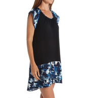 Carole Hochman Midnight Abstract Sleepshirt 1331004