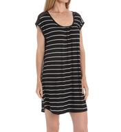 Carole Hochman Midnight Annette Stripe Sleepshirt 133956