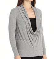 Carole Hochman Midnight Lounge Capsule Cowl Neck Top 136914