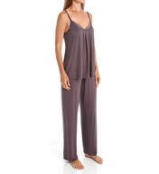 Carole Hochman Midnight Chantilly Pajama Set with Shelf Bra 1391003