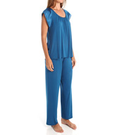 Carole Hochman Midnight Abstract Pajama Set 1391004