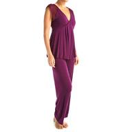 Carole Hochman Midnight Floral Oasis Pajama Set 1391051