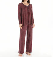 Carole Hochman Midnight Romantic Long Pajama Set 139854