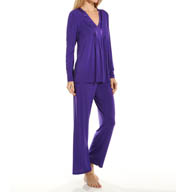 Carole Hochman Midnight Whimsical Long Pajama Set 139859