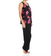 Carole Hochman Midnight Floating Florals Long Pajama 139950