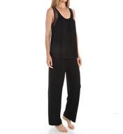 Carole Hochman Midnight Annette Stripe Pajama Set 139956