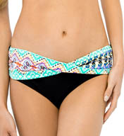 Christina Andes Delight Semi-High Waist Twist Swim Bottom AD3045