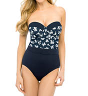 Christina Hamptons Bouquet Bandeau One Piece Swimsuit HB1015